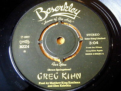 "Greg Kihn - For You  7"" Vinyl"