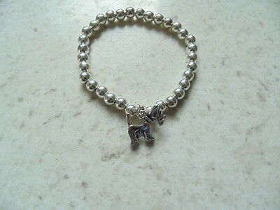 Lovely quality Bead Bracelet with dog charm gift idea