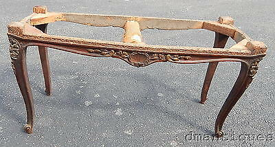 Antique Victorian Bench Carved Shell Floral Designs French Style Cabriole Feet