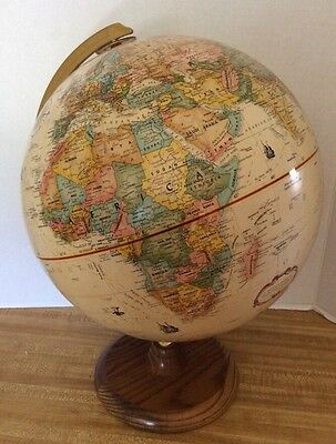 REPLOGLE 12-INCH DIAMETER GLOBE WORLD CLASSIC SERIES Wood Base Antique White