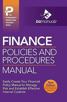 Finance Policies and Procedures Manual (English) Hardcover Book Free Shipping!
