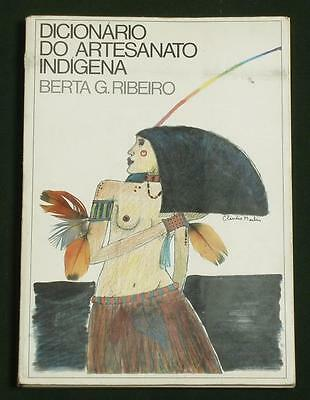 BOOK Brazil Indigenous Art & Artifacts illustrated dictionary Native Indian Tupi