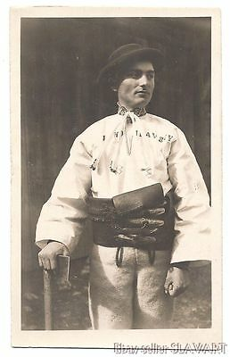 POSTCARD Slovak old photograph Karol Plicka Vazec folk costume embroidered shirt