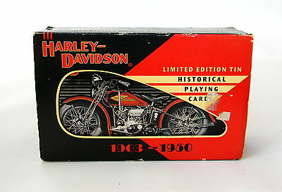 Harley-Davidson Limited Edition Tin Historical Playing Cards USA