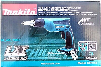 NEW IN BOX Makita 18V XSF01Z Cordless Battery Drywall Drill Screwdriver 18 Volt