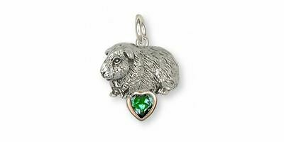 Guinea Pig Charm Jewelry Silver And Gold Handmade Piggie Charm GP7-TNSP