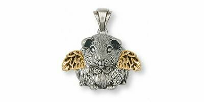 Guinea Pig Angel Pendant Jewelry Silver And Gold Handmade Piggie Pendant GP1-TNA