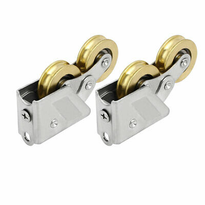 1.1-inch Double Bearing Rollers Wheel Pulley 2pcs for Sliding Door Window