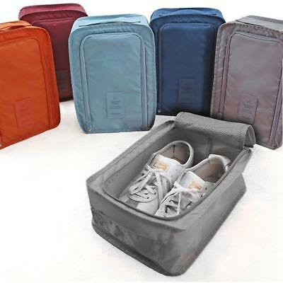 Portable Travel Waterproof Tote Pouch Dry Shoes Storage Zip Bag Box Outdoor LD