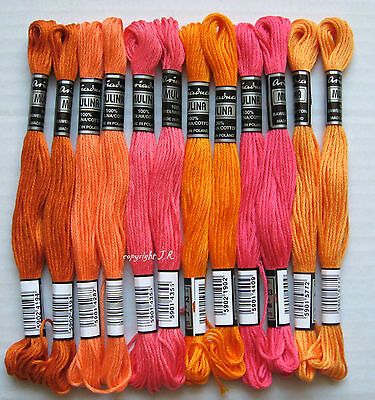 Embroidery thread 12 Dock ORANGE-PINK with Sticktwist made of Cotton -14