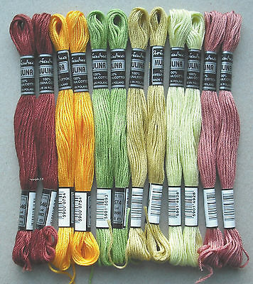 Embroidery Twist Embroidery Yarn 12x autumn - sounds Cotton twist embroider -22