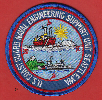 Us Coast Guard Naval Engineering Support Unit.  Seattle Wa.  Patch