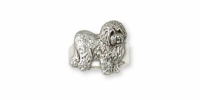 Old English Sheepdog Ring Jewelry Sterling Silver Handmade Dog Ring OE3-R
