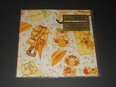 NIP Vintage 1979 Paper Doll Gift Wrapping Paper Little Girl American Greetings