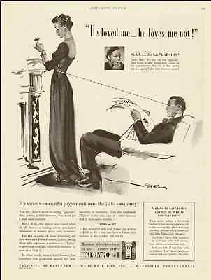 1940 vintage ad for Talon Slide Fasteners 'Zippers' -804