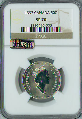 1997 Canada 50 Cents Ngc Mac Sp70 Proof Finest Graded Rare Spotless *