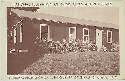 c1930s Music Club Practice Hall at Chautauqua New York postcard view