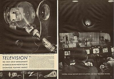 1945 print article TELEVISION The Next Development in Radio, Huge 9 pages 061117
