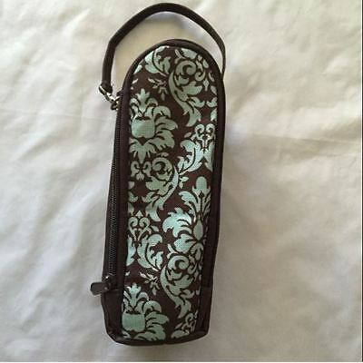 ENFAMIL Baby Bottle Travel Carrier Case Brown Blue Zippered Insulated Portable