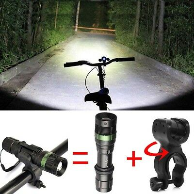 Tactical 12000LM LED T6 LED Flashlight 18650 Lamp Torch 360° Bike Mount Clip