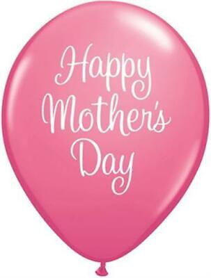 """Happy Mothers Day Classy Script Rose Pink 11"""" Qualatex Latex Balloons x 20"""