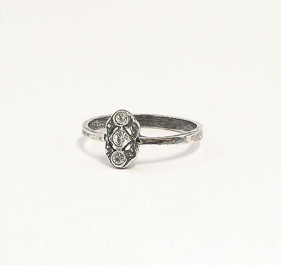 925 silver Ring with Swarovski Stones Big 52 delicate 9901372