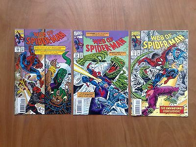 3 Issues Web Of Spider-Man #109/110/111 'the Savaging' Marvel Comics 1991 V/fine
