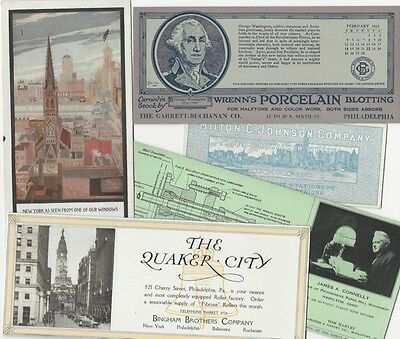 Five Blotters Advertising Advertising Blotters, Illustrating & Paper, & Printing