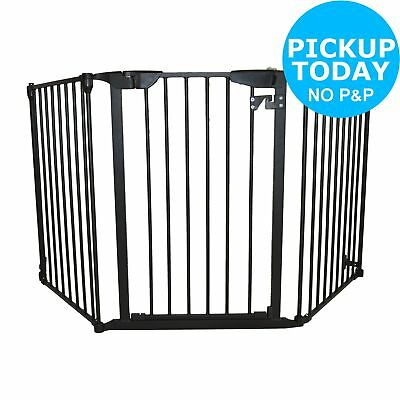 Cuggl Extra Wide Adjustable Safety Gate - Black.
