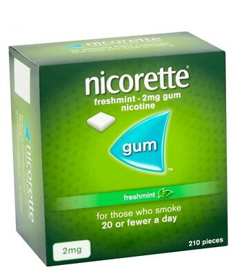 Nicorette Chewing Gum Freshmint 2mg 210 Pieces