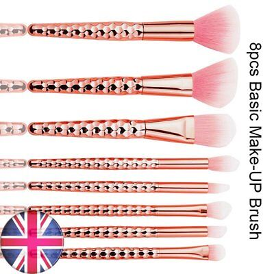 8pcs Professional Make Up Brushes Set Foundation Brushes Kabuki Makeup Rosegold