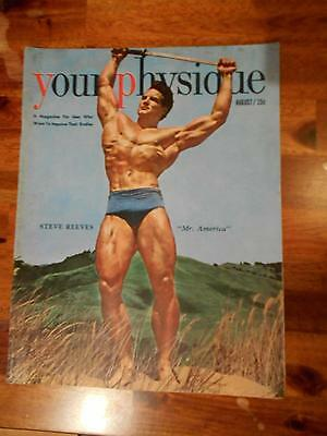 YOUR PHYSIQUE bodybuilding muscle magazine/STEVE REEVES 8-50