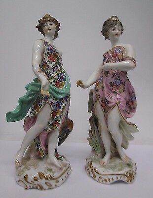 A Pair of Early 19th Century Derby Porcelain Figurines