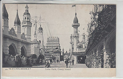Coney Island New York NY Postcard 1901-1907 Luna Park