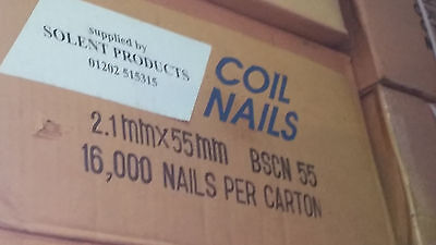 15 Degree Flat Wound Wire Collated Coil Nails - 2.1 x 55mm. BSCN55