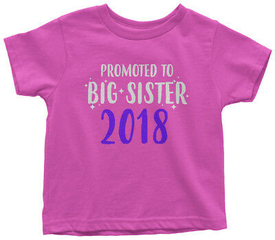 Promoted To Big Sister 2018 Toddler T-Shirt Expecting Baby Gift