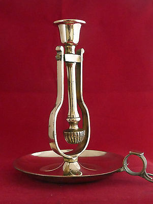 Vintage / Antique Gimbal Brass Candle Holder