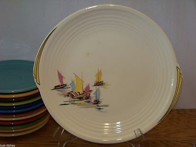 """1936 BAR HARBOR 10-1/2"""" Dinner Plate (#3) by Edwin M Knowles on Yorktown Shape"""