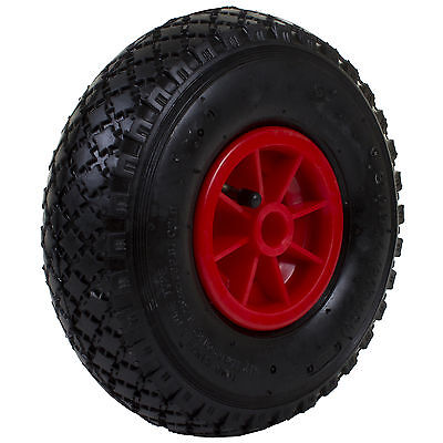 "10"" 3.00x4 Heavy Duty Sack Truck Wheel Rubber Pneumatic Tyre Barrow Replacement"