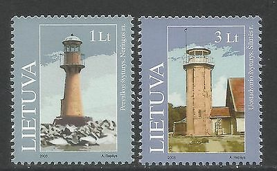 Lithuania 2003 Local Lighthouses--Attractive Architecture Topical (741-42) MNH