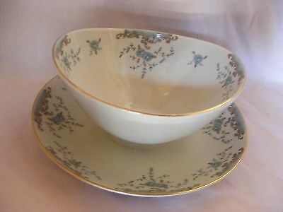 Imperial China W Dalton Seville Gravy Boat Attached Underplate  Mint Condition