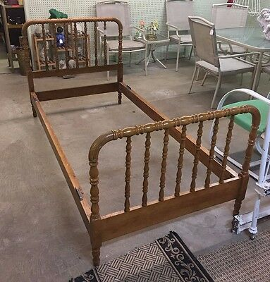 Antique Jenny Lind Spool Bed Youth Size Child's Toddler