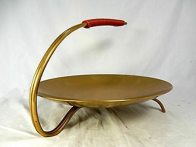 Well shaped / formschöme 50´s design WMF Messing Anbietschale / brass bowl  25cm