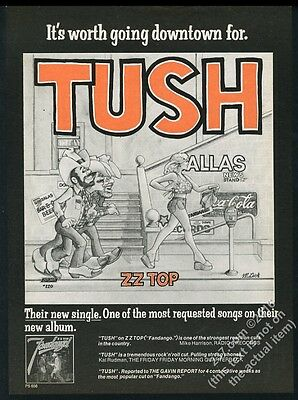 1975 ZZ Top Tush song release big vintage music trade print ad