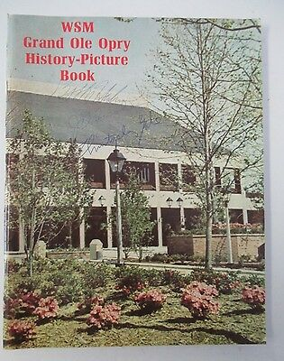 1974 WSM Grand Ole Opry History Picture Book, Illustrated & Signed