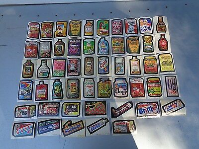 Vintage Lot Of 52 Original Topps Wacky Packages Stickers