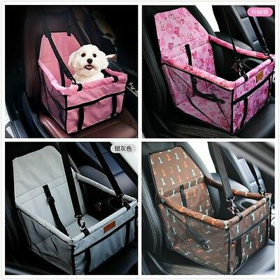 Portable Dog Car Seat Belt Booster Carrier Bag Case for Pet Puppy Travel Safety