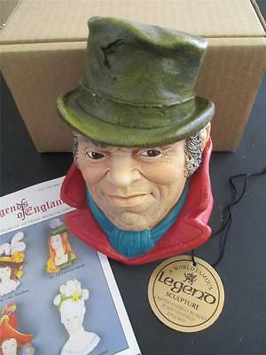 NOS Bill Sykes DICKENS Legends of England F Wright Bossons Chalkware ONE ONLY!!!