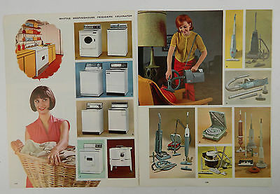 1960's Catalog Paper Advertisement Ad Washer Dryer Maytag Westinghouse Housewife