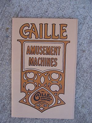 Caille Brothers Amusement Machine Catalogue 512 Scale Lift Test Punching Vend  R